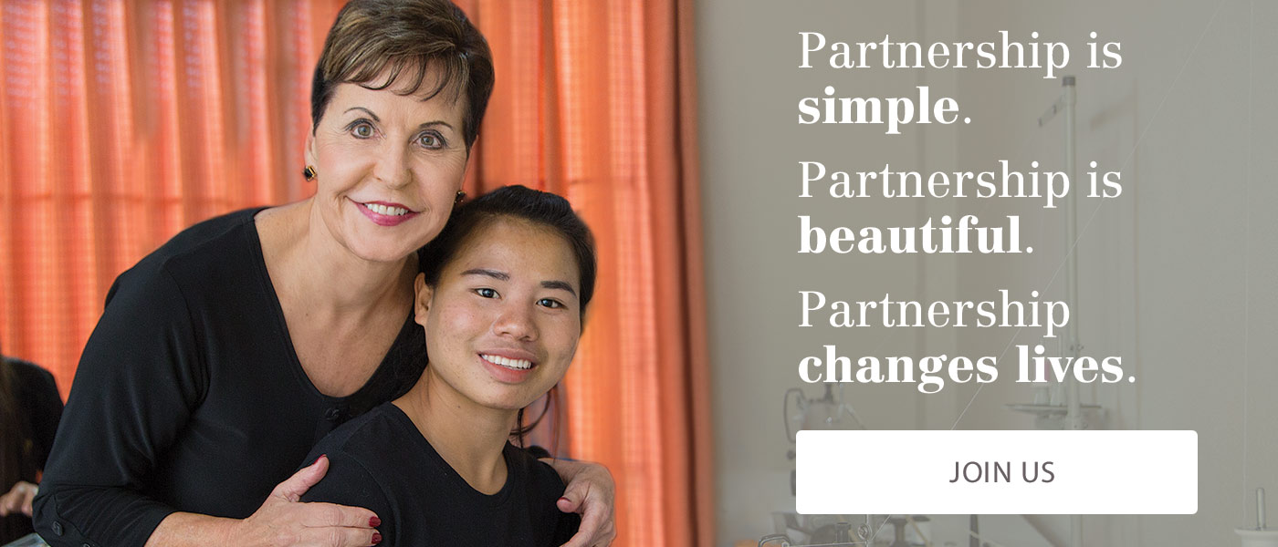 Partnership is simple. Partnership is beautiful. Partnership changes lives. Join Us